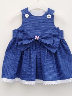 Handmade polka dot baby girl party dress size 3-6 months