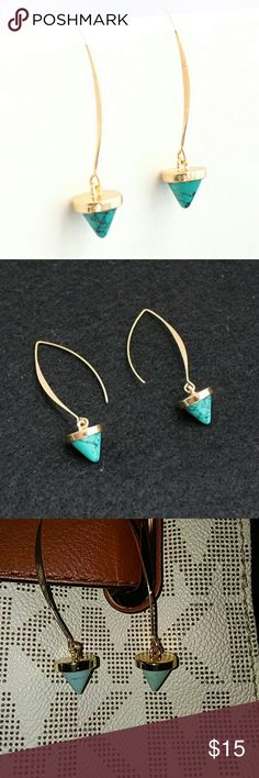 Marbled stone earrings Beautiful light weight stone earrings. These are so cute and fun. A must have for your jewelry box.   I'm a suggested user and a top rated seller. Nonsmoking pet free home. Always bundle for a discount Free gift with $15 purchased Jewelry Earrings