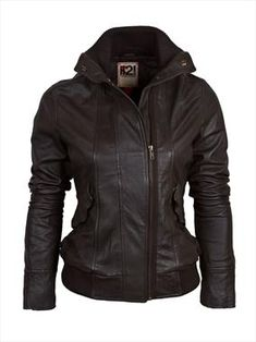 Women's leather bomber jacket - LOVE THIS! Bestfriend i want this for Christmas lol