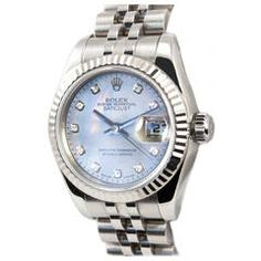 Rolex Lady's DateJust Mother-of-Pearl Diamond Dial Wristwatch, Ref 17917, 2006