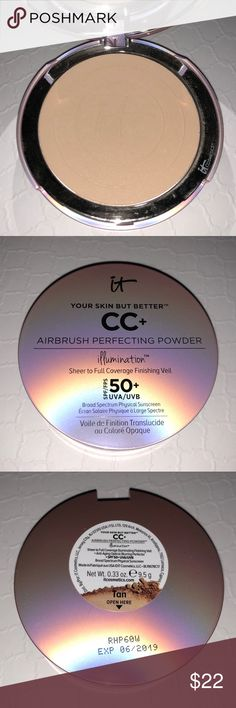 IT COSMETICS TAN AIRBRUSH PERFECTING POWDER Your Skin But Better CC+ Airbrush Perfecting Powder Illumination with SPF 50+. Brand new, never used or swatched, no box. Full-sized product. 100% authentic! Please refer to website or your nearest store for color match.   🎁FREE GIFT WITH PURCHASE ON EVERY BUNDLE!  🚫NO TRADES🚫 IT Cosmetics Makeup Face Powder