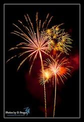 This is one of several photographs that I took during last nights fireworks display celebrating our town.
