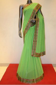 Chiffon Silk Saree     Product Code: AA215029
