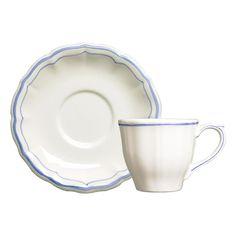 Gien Filets Bleus Coffee/ tea cup, 175 ml