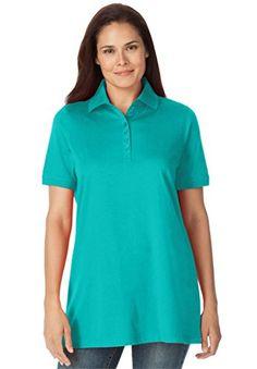 Women's Plus Size Top, Perfect Polo Short-Sleeve T-Shirt - http://darrenblogs.com/2016/06/womens-plus-size-top-perfect-polo-short-sleeve-t-shirt/