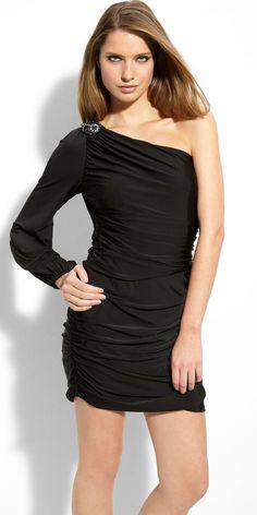 Short One Shoulder Black & Silver Sequin Dress AS-I348218D6   My ...