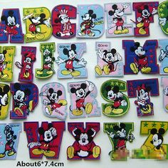 New to craftapplique on Etsy: Disney Mickey patches Name patch animal patches cute patch Embroidery patches embroidered patch iron on patch sew on patch A121 (2.30 USD)
