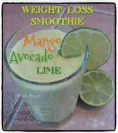Mango Avocado Lime Weight Loss Smoothie