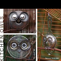 Recycle old kitchen ware into Garden Sculptures
