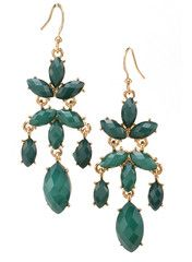 Emerald Audrina Earrings - Modeets.com