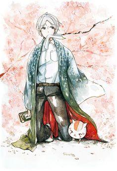Natsume Takashi & Nyanko-sensei | Natsume's Book of Friends