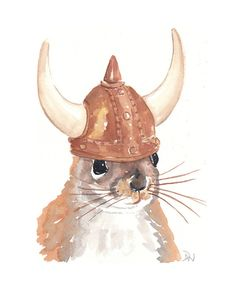 Wee Viking squirrel