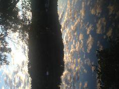 Lake Arrowhead morning.  The lake was sky blue!
