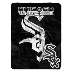 Chicago White Sox MLB Micro Raschel Blanket (Structure Series) (45in x 60in)