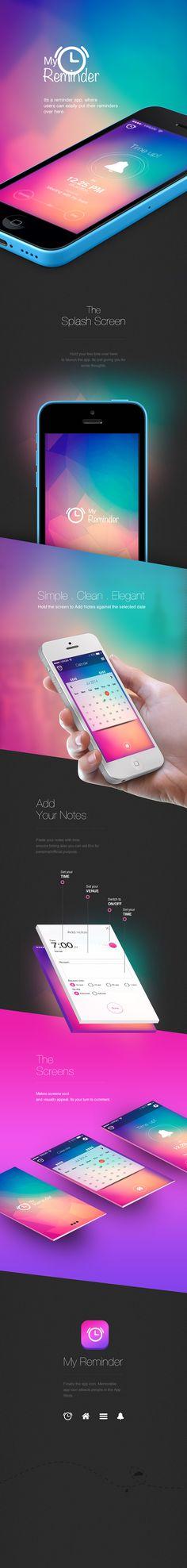 My Reminder iOS App Design on Behance