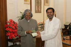 Presenting self-authored book Making Your Mind Your Best Friend to President of India Hon. Dr. A.P.J. Abdul Kalam.
