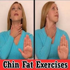Chin Fat Exercises for Women #chin #exercise
