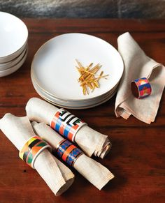 6 Easy Craft How-Tos from Parade Magazine | Native American Napkin Rings designed by Caitlin Mociun from Past & Present by Amy Azzarito (STC Craft / Melanie Falick Books)