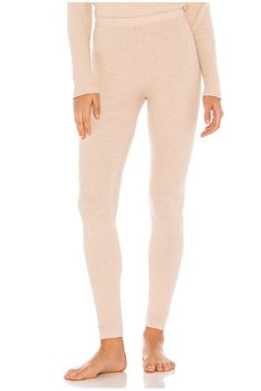 Free People Think Thermal Legging in Neutral , Deep V Bodysuit, Thermal Leggings, Leggings Fashion, Leggings Style, Jumpsuit With Sleeves, Lounge Wear, Free People, Pajama Pants, Style Inspiration