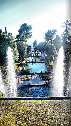 Villa D'este, Tivoli, Italy, Rome, province of Rome , Lazio region Italy   - Explore the World, one Country at a Time. http://TravelNerdNici.com