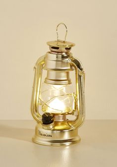 Dorm Decor - Try as I Light Lantern in Gold