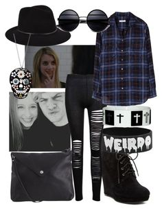 """Coven :)"" by punk-rhythm ❤ liked on Polyvore featuring Jessica Simpson, Janessa Leone, Pieces and Equipment"