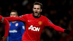 Celebrate good times: Juan Mata of Manchester United celebrates Robin van Persie scoring against Cardiff Soccer Fifa, Soccer Guys, Soccer Players, Premier League, Chelsea, Van Persie, Cardiff City, Best Club, Manchester United Football