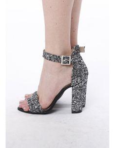 Sandale cu glitter