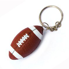 Custom Offset printing Logo rugby keychain, Mini 3D sports gym American football soccer baseball club key chain ring keyring #rugby_clothing, #Products