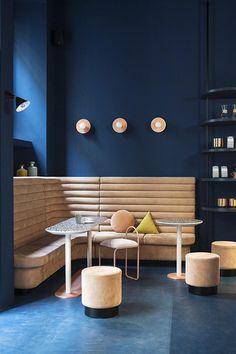 Studiopepe's interior design of Cafezal coffee shop in Milan Eclectic Trends Cafe Interior Design, Home Interior, Interior Architecture, Contemporary Architecture, Farmhouse Interior, Scandinavian Interior, Contemporary Interior, Luxury Interior, Café Design