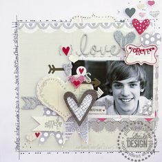 Pink Paislee Got Sketch using Secret Crush #pinkpaislee #love #scrapbooking