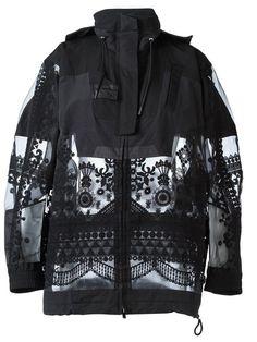Sacai tribal lace military jacket