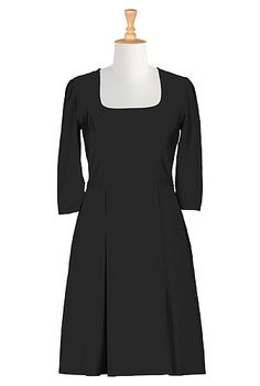 The retro-style dress trend is great for plus sizes. They flatter hourglass figures. But often times end up too feminine/sexy looking for a courtroom. This dress from eShakti is more reserved while still being forgiving to body types.
