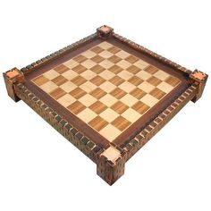 Wooden Chess Board with Medieval Fortress Design ❤ liked on Polyvore featuring games