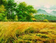 Among the Brush Artist Jorge Carbonell Various Artists, Vineyard, Mountains, Nature, Travel, Painting, Outdoor, Outdoors, Naturaleza