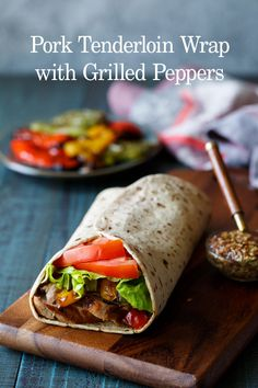 Pork Tenderloin Wrap with Grilled Peppers - Flatoutbread