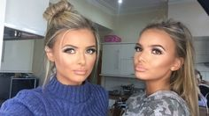 "Ellie & Daisey O'Donnell - ""our makeup for tonight thank you again @tammi_mua @daiseyodonnell """