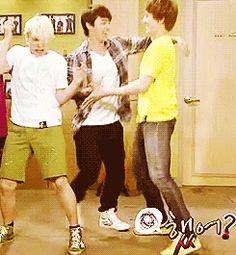 dancing donghae kyuhyun suju sungmin #gif from #giphy