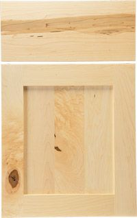 """Woodland Cabinetry - """"Hill"""", shaker style with narrower stiles, full face frame."""