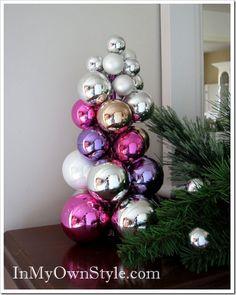 Künstlicher Weihnachtsbaum basteln glaskugeln