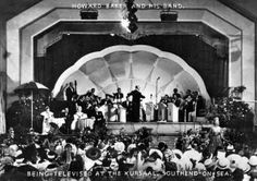 """The Kursaal Southend On Sea-Howard Baker was the resident band leader in the Kursaal ballroom from shortly before the Second World War until 1967. His """"Old Time Band"""" played on Monday evenings, while modern dance music was played on Wednesdays and Saturdays."""