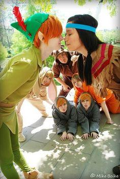 Peter pan group cosplay. So c cute