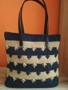 Anchors Aweigh Tote pattern by Kathy Olivarez Crochet Market Bag, Crochet Tote, Crochet Handbags, Crochet Purses, Diy Crochet, Crotchet Bags, Knitted Bags, Backpack Pattern, Tote Pattern