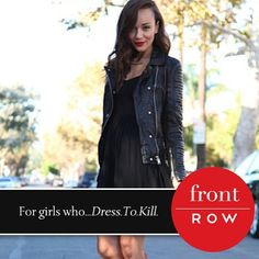 Front Row with @Ashley Bell is dressed to kill in all black! www.VanityRow.com