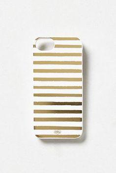 metallic stripe iphone 5 case / anthropologie