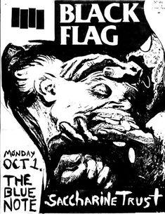 Black Flag punk hardcore flyer