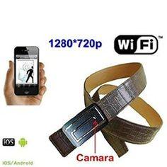 – WiFi Spy Camera Hidden in leather belt Grabacion en Micro SD Wifi Spy Camera, Hidden Camera, Sd, Gadgets, Belt, Amazon, Link, Leather, Belts