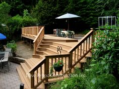 Inside Corner Cascade Stairs Work For This Deck Outdoor