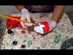 Como fazer vaso tipo boneca de cimento.passo a passo (Parte 1) - YouTube