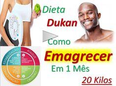 Como Emagrecer Em Um Mês 20 kilos- Dieta Dukan A dieta Dukan cumpre o que promete: oferece emagrecimento rápido, e você emagrece sem passar fome .È destinada para quem deseja emagrecer e conquistar a boa forma física, e normalmente aposta em dietas milagrosas. A dieta Dukan é uma dieta dividida em 4 fases e permite emagrecer cerca de 5 kg logo na primeira semana. 1ª fase da dieta Dukan - fase de ataque  Na 1ª fase da dieta Dukan só é permitido comer alimentos ricos em proteínas, sendo…